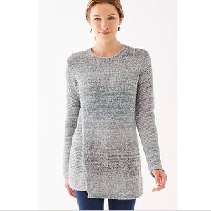 J Jill Pure Jill XS Space-Dyed Tunic Sweater